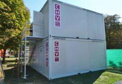 CHV Container beim Wiener Wiesn-Fest 2018 Containeranlagen Zweistöckig Stiegenaufgang