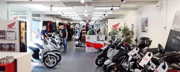 Motorrad Verkaufsraum Wien
