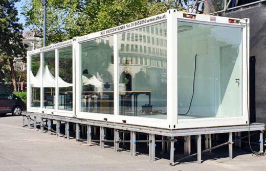 Glascontainer Doppelanlage