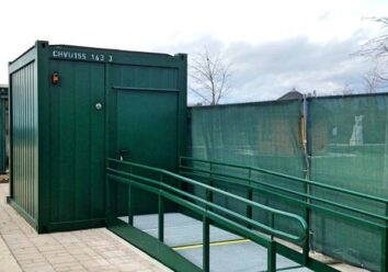 CHV mobile Toiletten WC Container Barrierefrei
