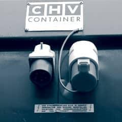 Bürocontainer Elektroinstallation