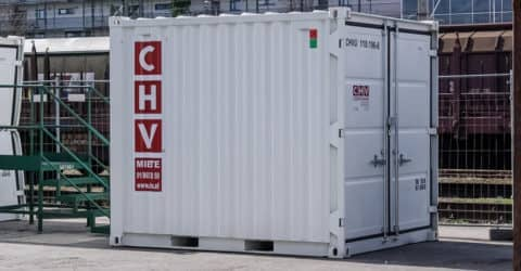 10ft Lagercontainer aus Stahl NEU