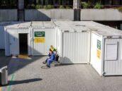CHV Sanitätscontainer Triage Station Wiener Krankenhaus