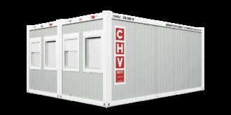 CHV-300DA Bürocontainer Doppelanlage Front