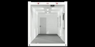 CHV-300.73 24 fuß Bürocontainer 7,3m seitlich