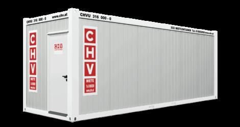 CHV-300.73 24 fuß Bürocontainer 7,3m Türfront