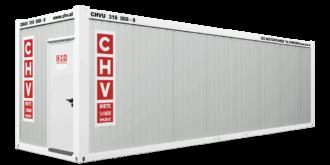 CHV-300.90 30 fuß Bürocontainer Tür Seite