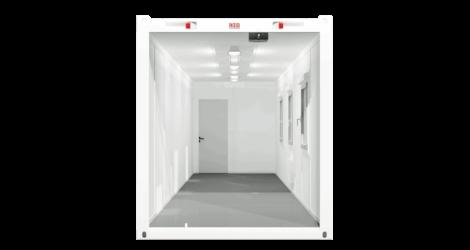CHV-300.90 30 fuß Bürocontainer Querschnit seitlich