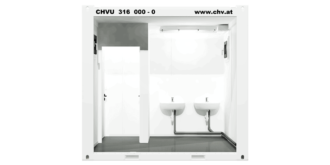 CHV-150DU 10 fuß Duschcontainer - innen
