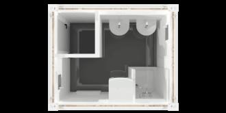 CHV-150DU 10 fuß Duschcontainer - oben