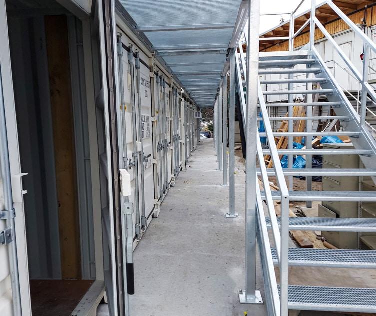 2-stöckige Baubüro Containeranlage