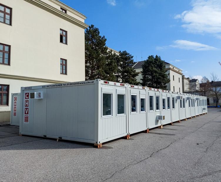 Containeranlage KdO Streitkräftebasis Bundesheer St. Pölten